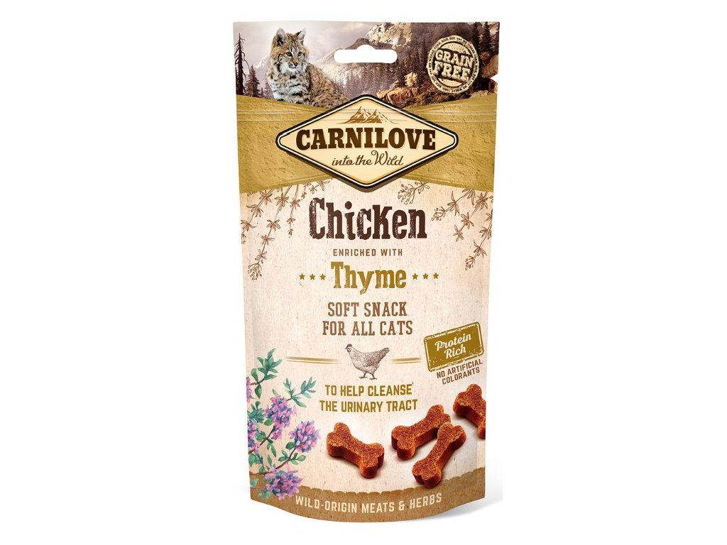 5271 carnilove cat semi moist snack chicken thyme 50g