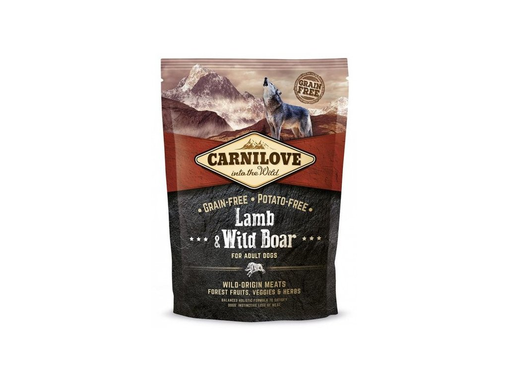 Carnilove Lamb & Wild Boar for adult 1,5kg | Tenesco.cz