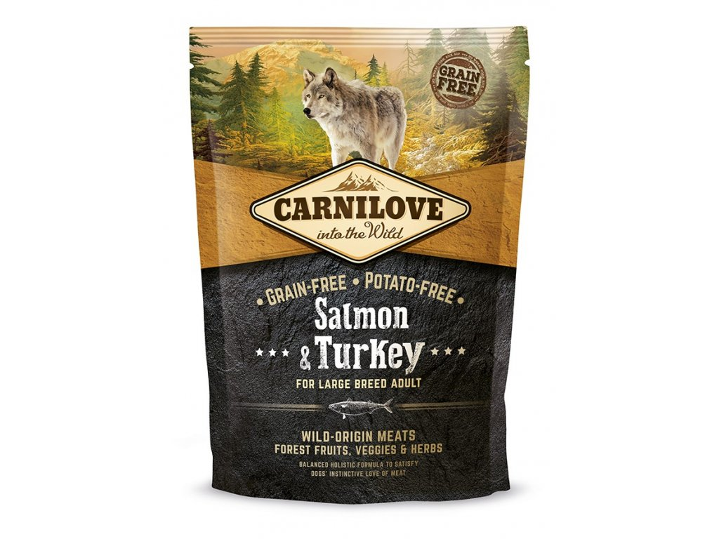 Carnilove Salmon & Turkey for large breed adult 1,5kg   Tenesco.cz