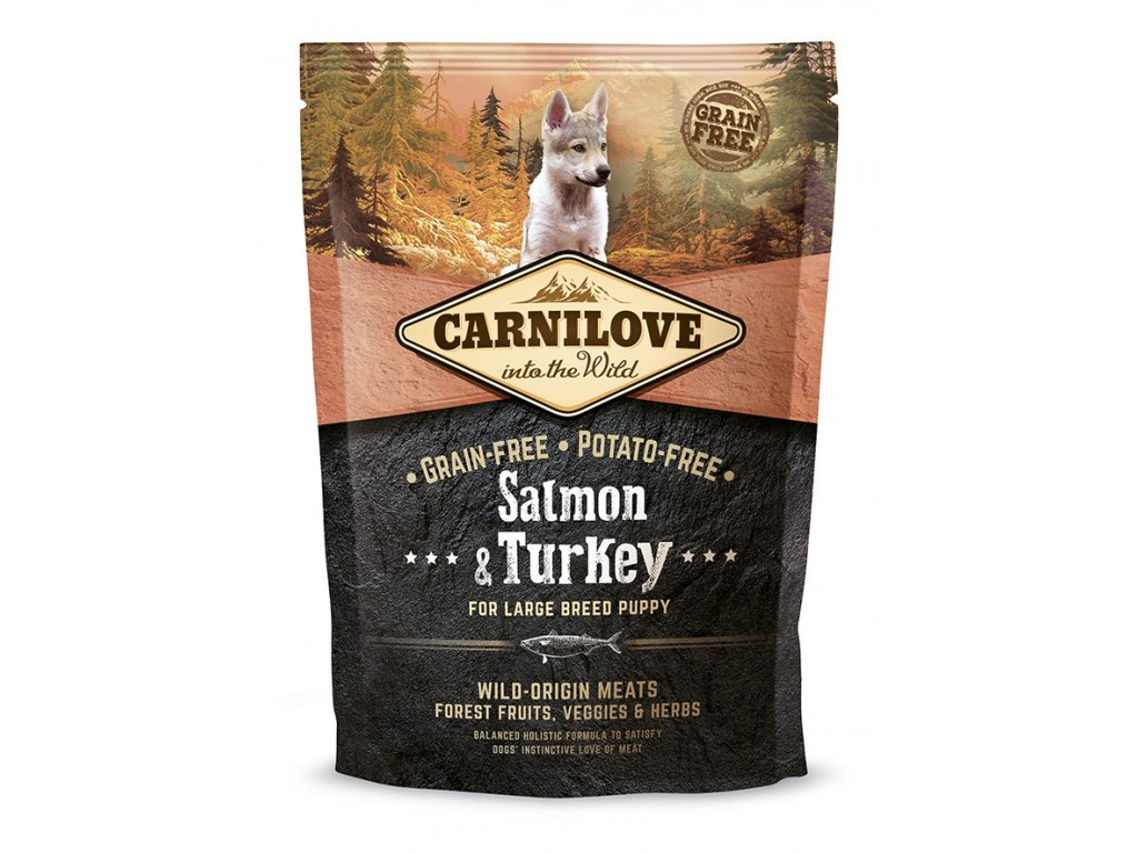 Carnilove Salmon & Turkey for large breed puppy 1,5kg | Tenesco.cz