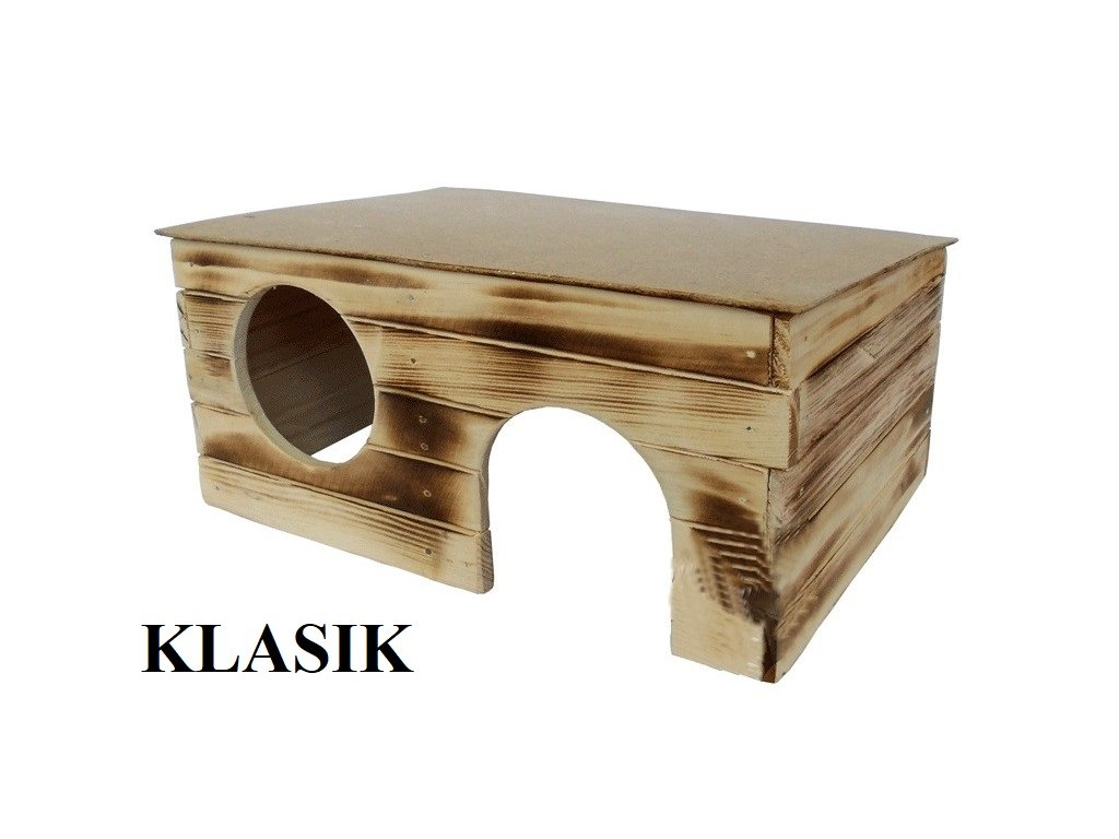 Dřevěná budka Klasik 4 pro morče