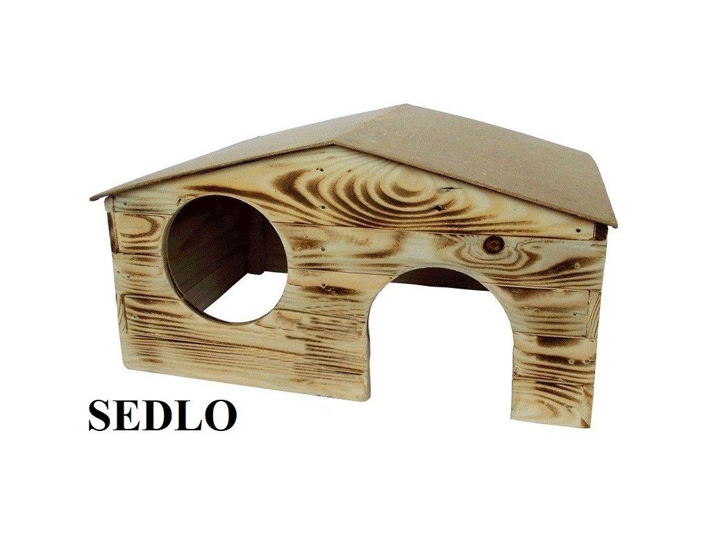 Dřevěná budka Sedlo 5 pro králíka