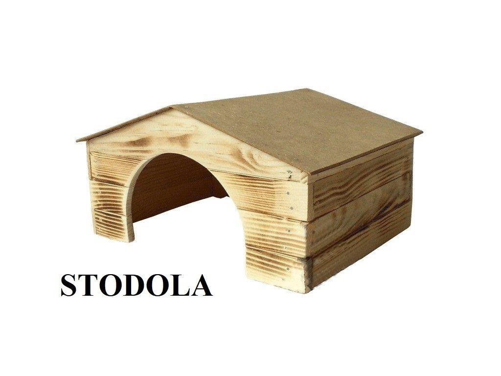 Dřevěná budka Stodola 4 pro morče
