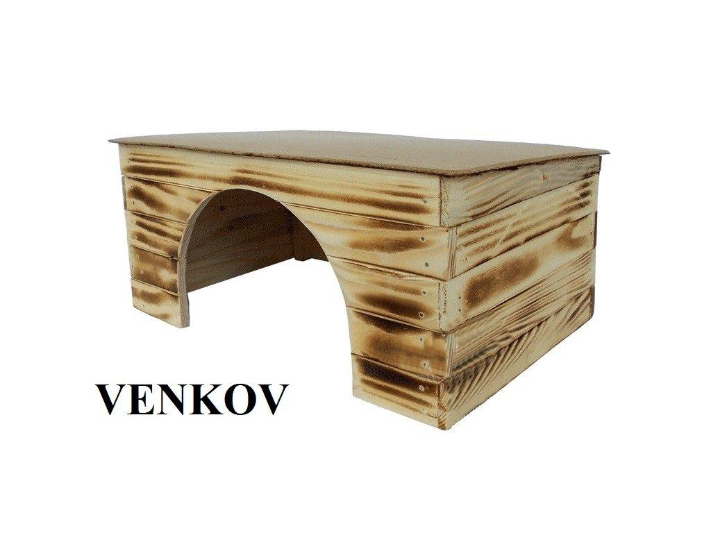 Dřevěná budka Venkov 4 pro morče