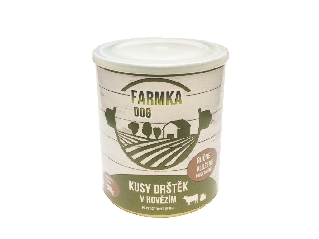 FARMKA DOG masová konzerva s dršťkami 800 g