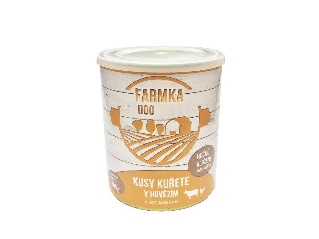 FARMKA DOG masová konzerva s kuřetem 800 g
