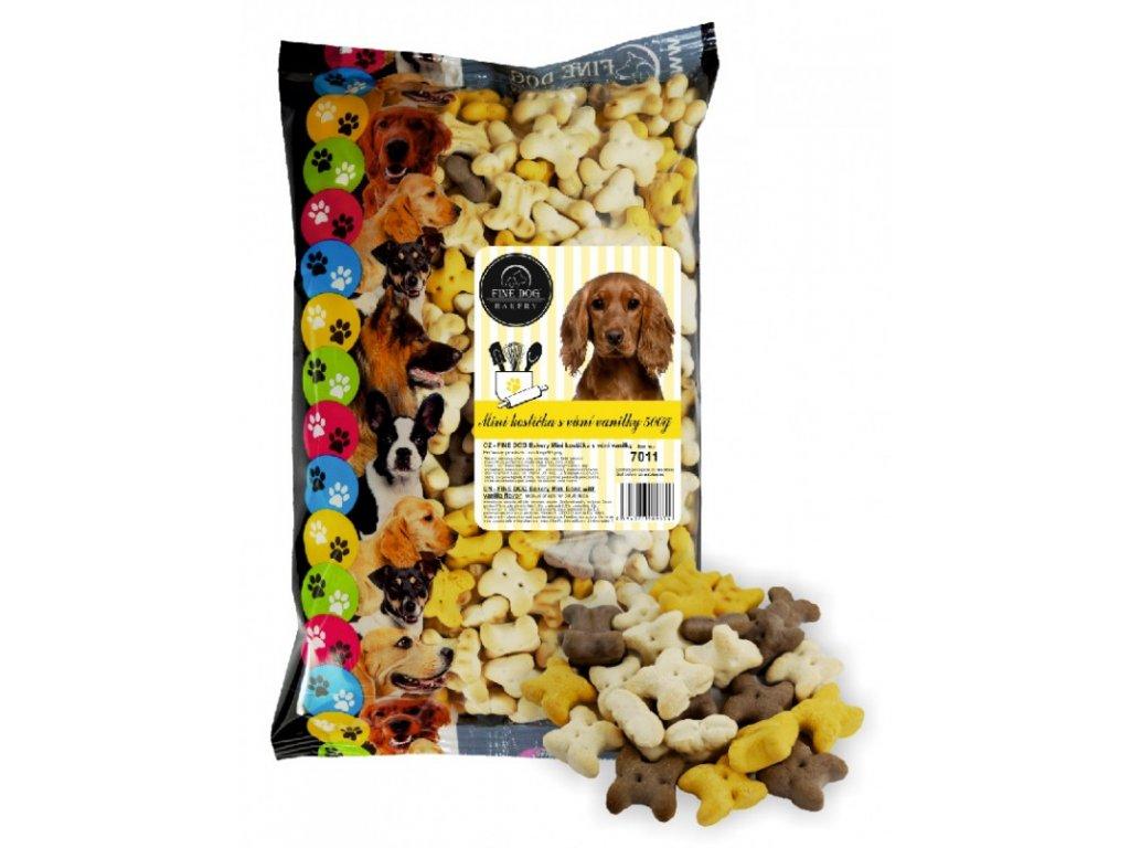 Fine Dog Bakery Mini kostička s vůní vanilky 500 g