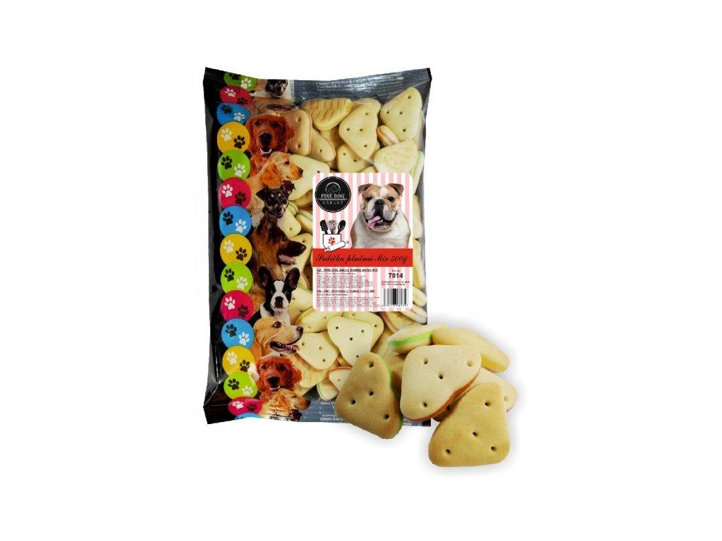 Fine Dog Bakery Srdíčka plněná mix 500 g