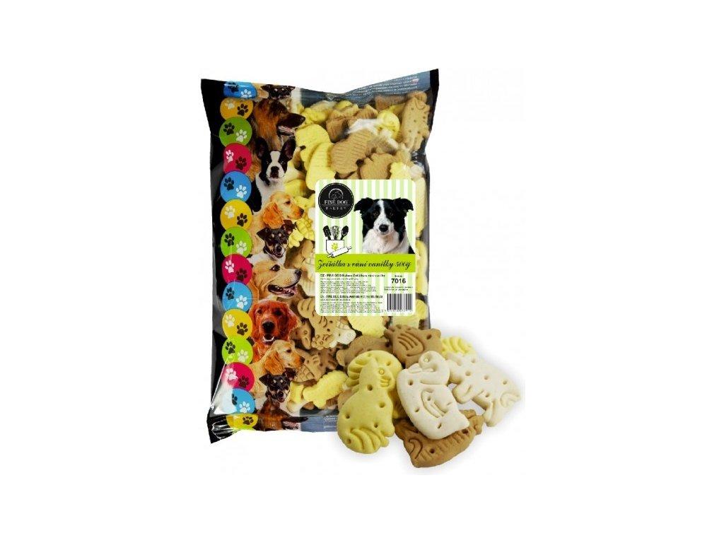 6975 fine dog bakery zviratka s vuni vanilky 500g
