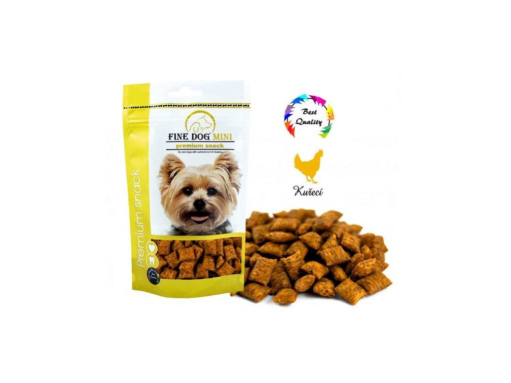 Fine Dog MINI polštářek kuřecí 100 g