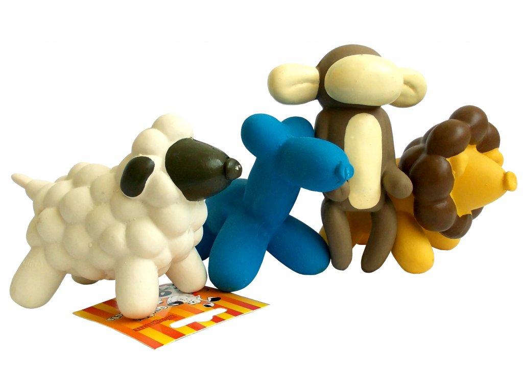 Hračka mini latex 24 cm pes, opice, ovečka, lvíček