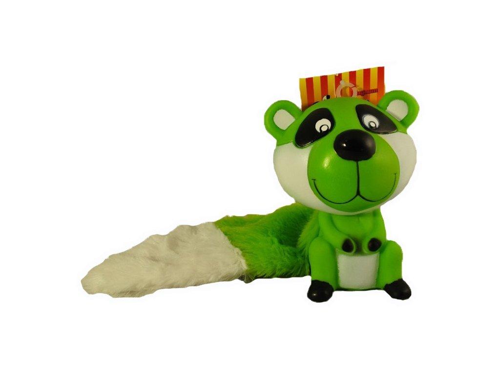 Hračka pro psy vinyl + plyš 13 cm zelená