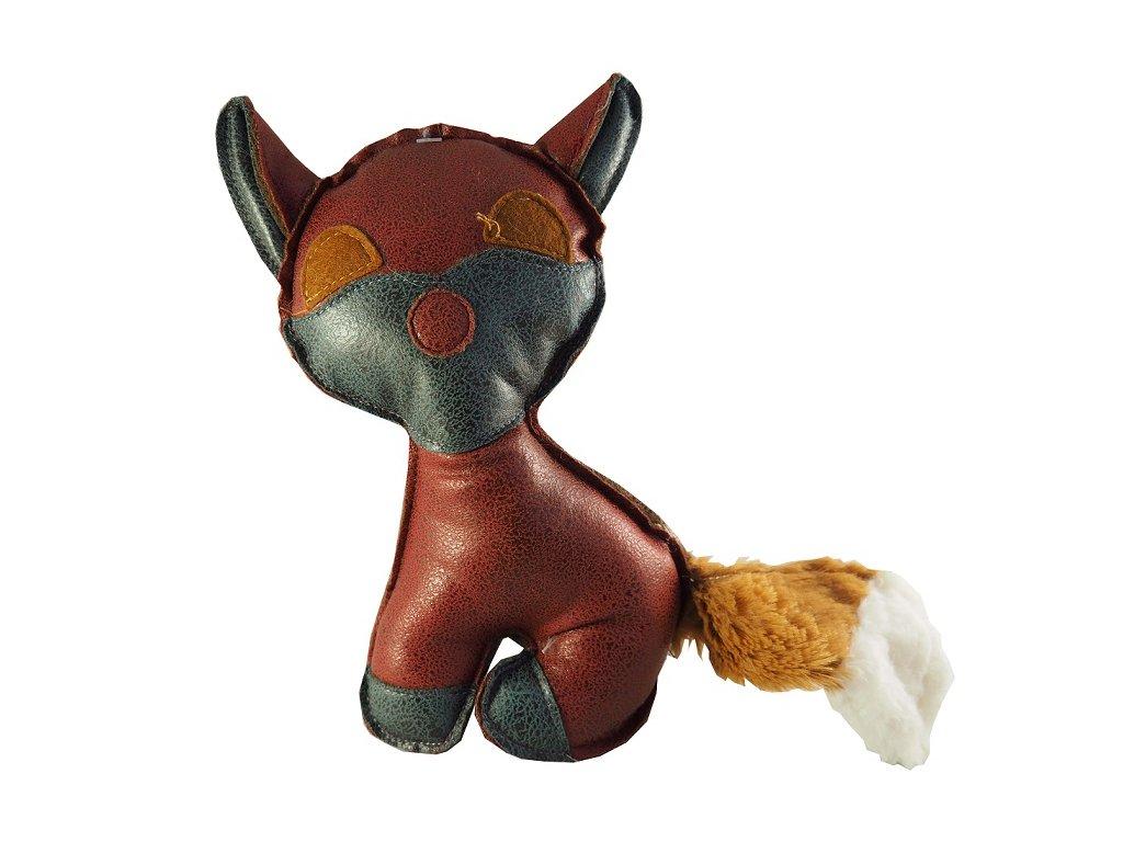 Kožená hračka pro psy kočka