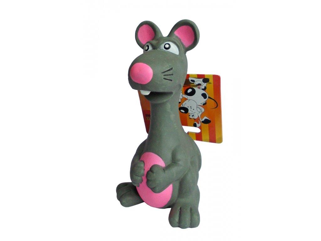 Latexová hračka pro psy Krysa pískací