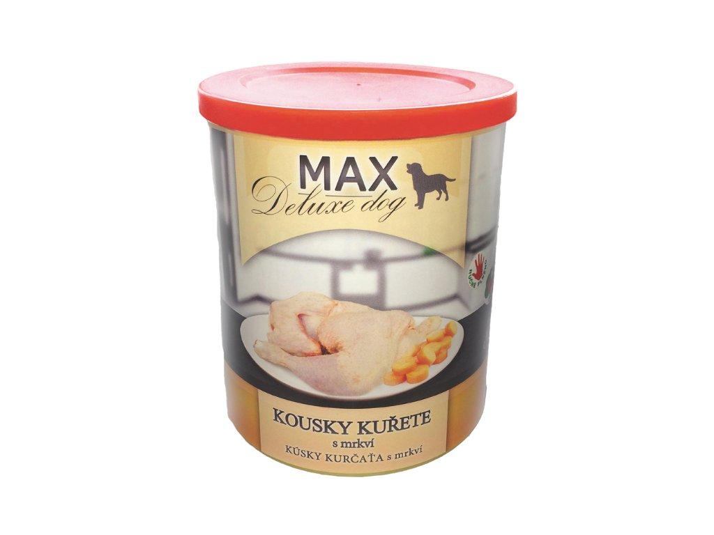 MAX deluxe kousky kuřete s mrkví 800 g
