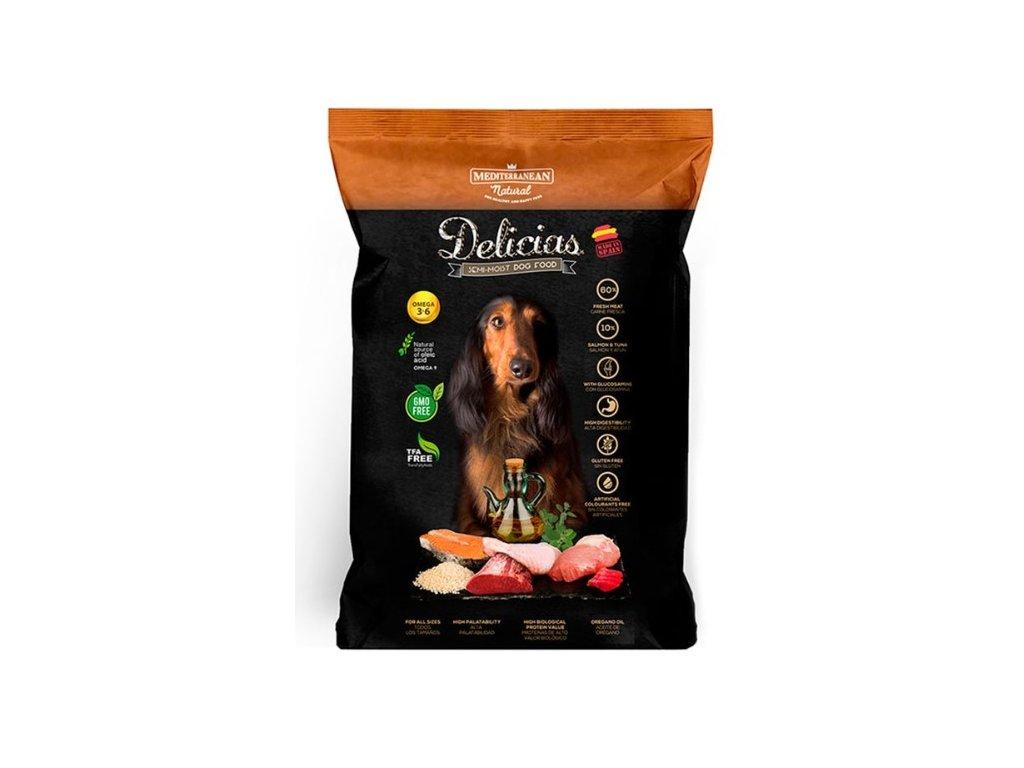 7098 mediterranean delicias polovlhke krmivo dospely pes 1 5kg