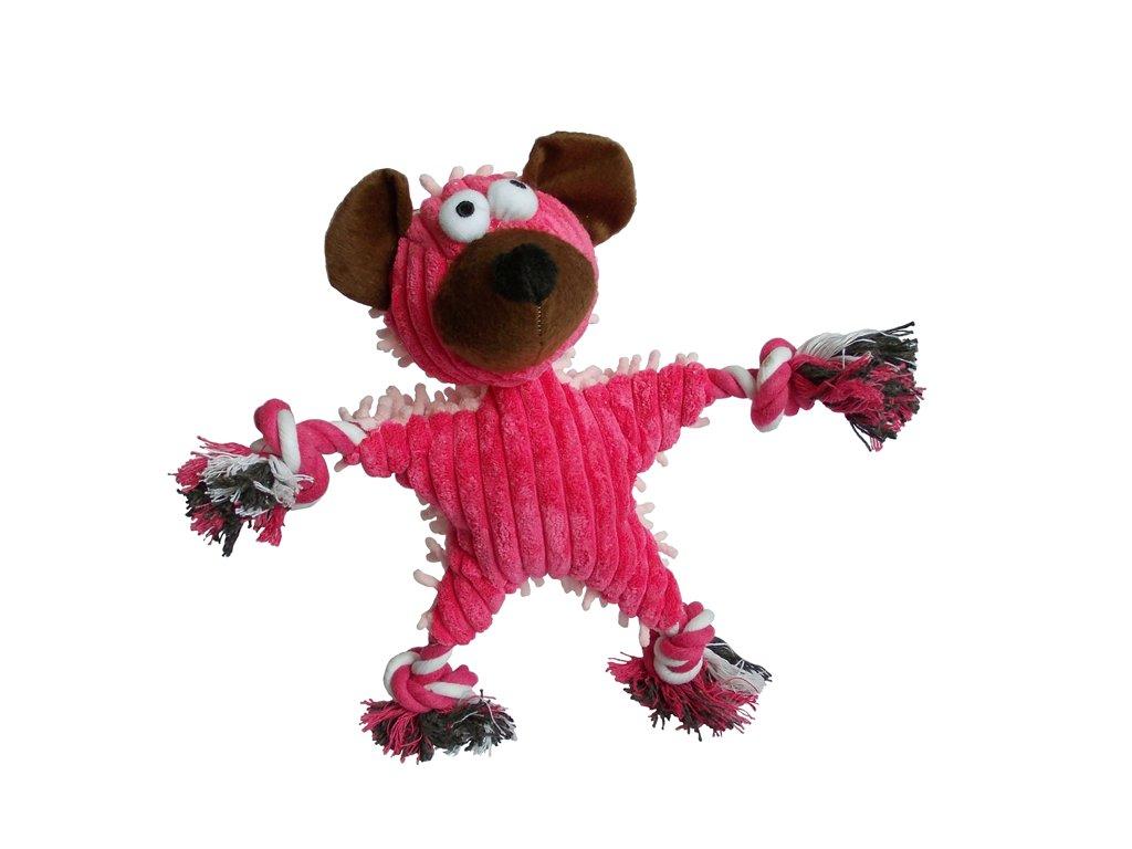 Medvěd textil se zvukem 28x30 cm