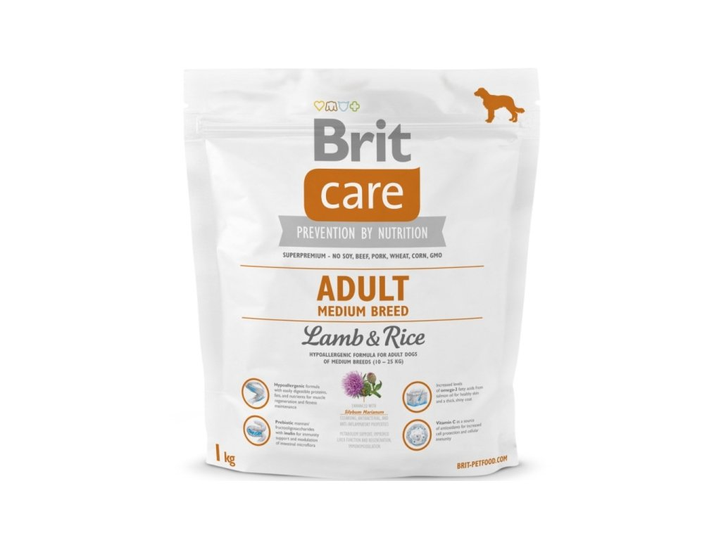 3528 new brit care adult medium breed lamb rice 1kg