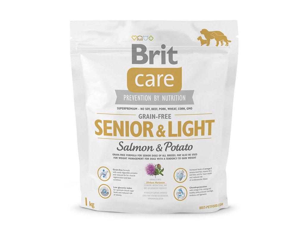 3600 new brit care grain free senior light salmon potato 1kg