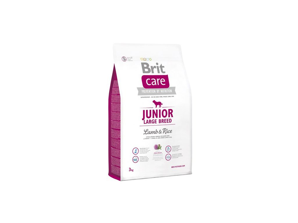 3507 new brit care junior large breed lamb rice 3kg