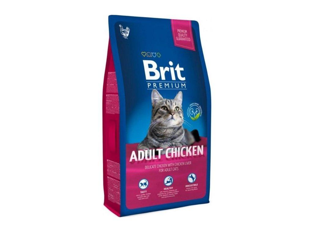 3909 new brit premium cat adult chicken 8kg