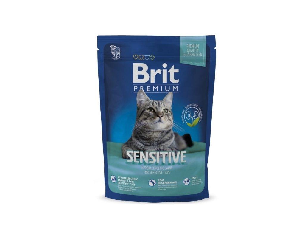 Granule Brit Premium Cat Sensitive 800 g