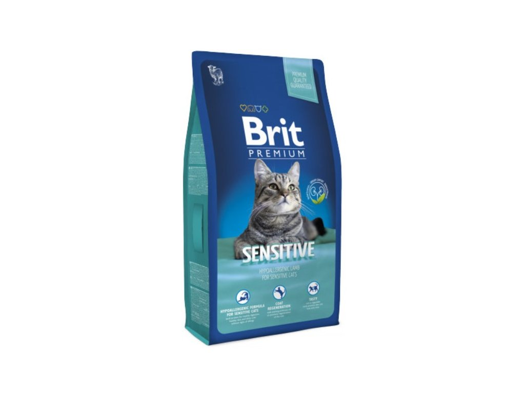 Granule Brit Premium Cat Sensitive 8 kg