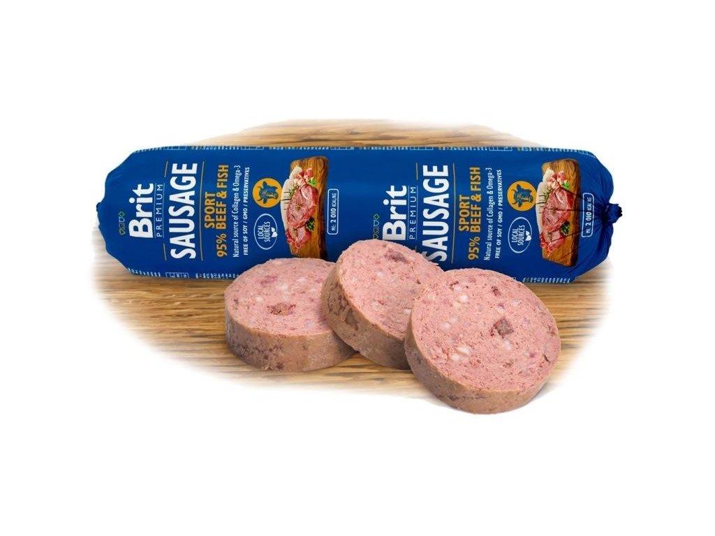 Brit sausage beef & fish Sport formula 800 g