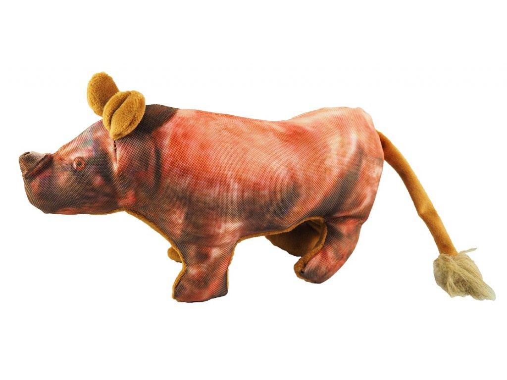 Nosorožec textil pískací 36x16 cm