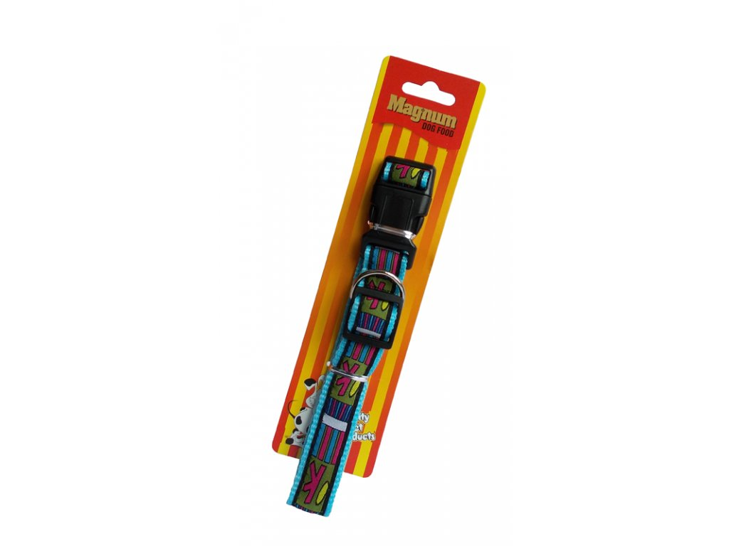 3297 obojek pro psy modry 25mm x 45 70cm