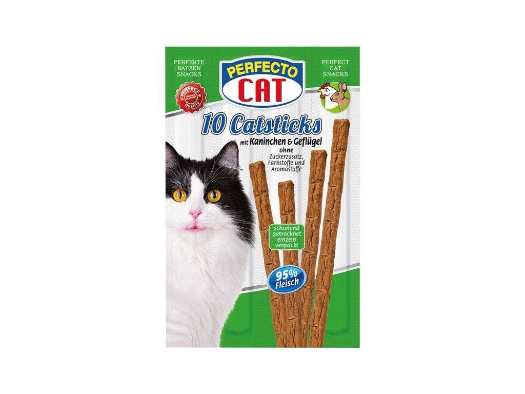 Perfecto Cat Masové tyčky králík & drůbeží 50 g 10 ks