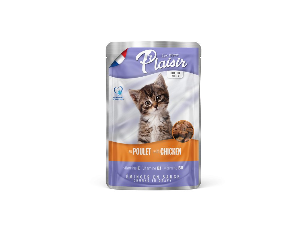 Plaisir Cat kapsička Kitten kuřecí 100 g