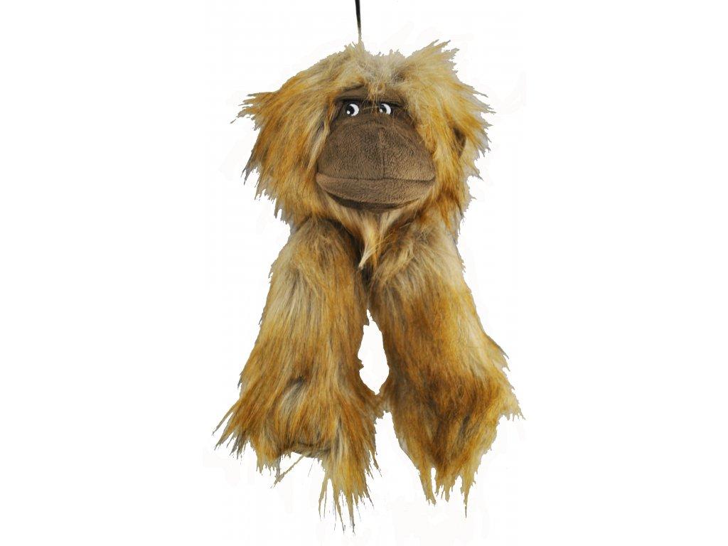 6879 plysova opice piskaci 13x30cm