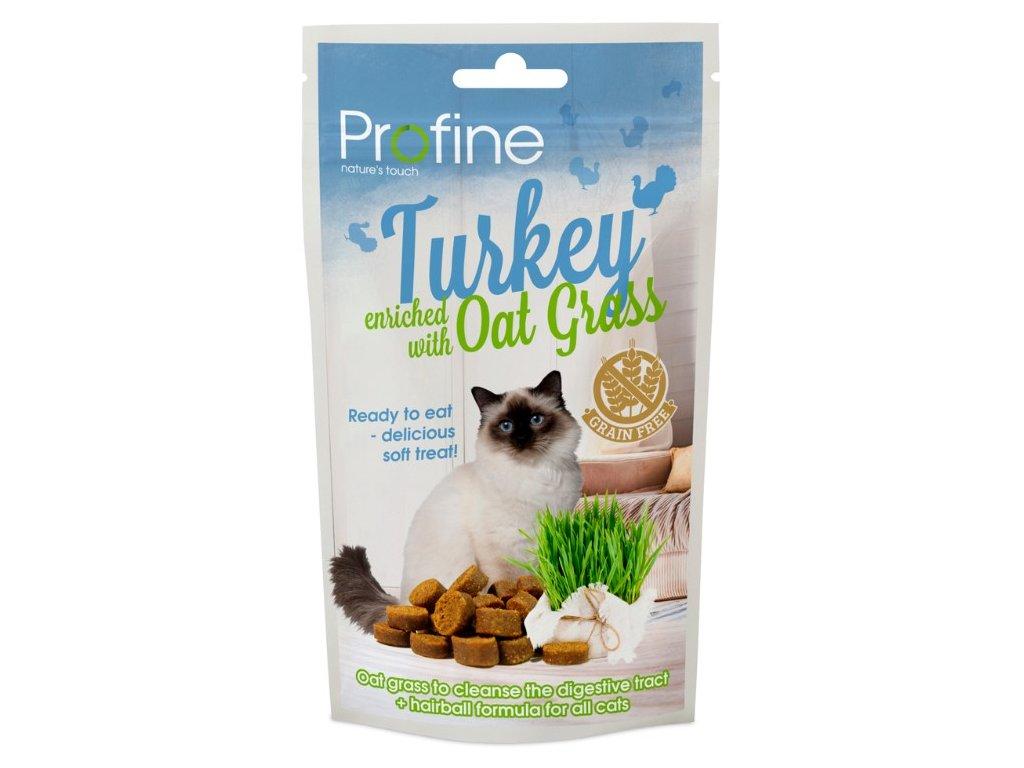 7032 profine cat semi moist snack turkey oat grass 50g