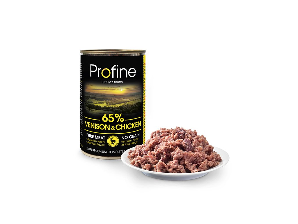 Profine Dog tins venison&chicken with meat