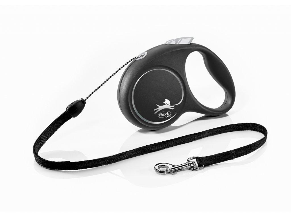 21163 flexi Black Design S Cord 5m black