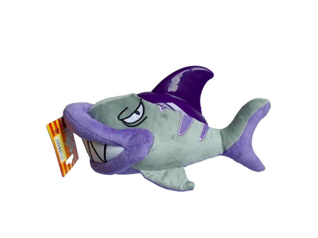 Hračka žralok textil