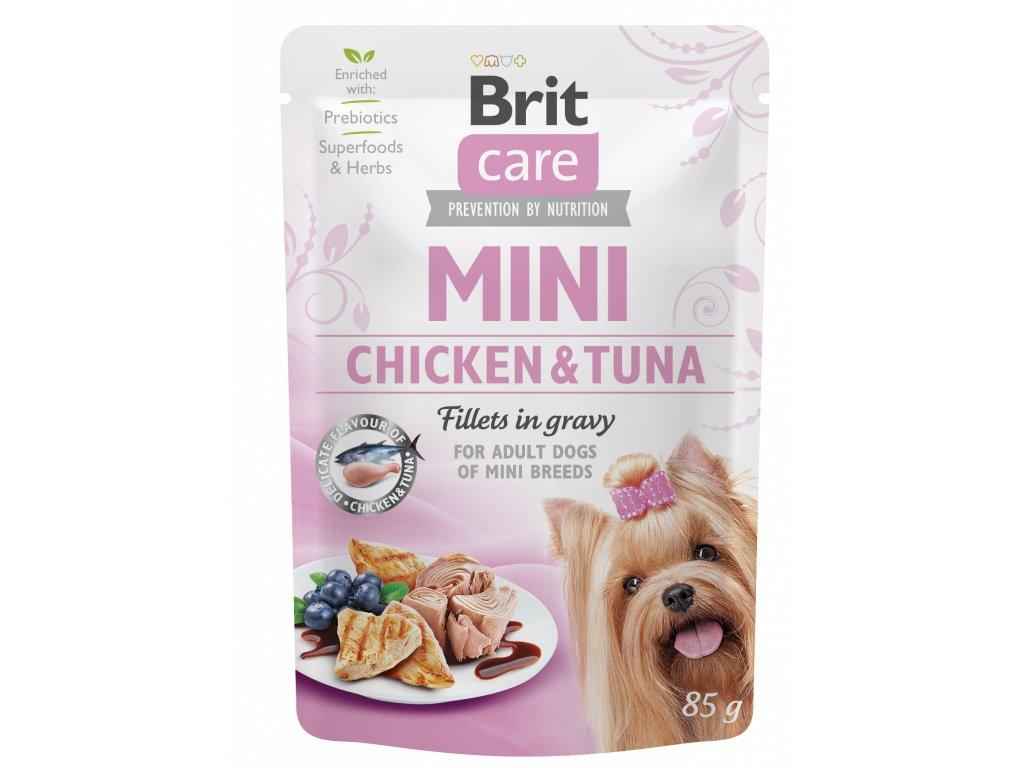 Brit Care Mini Chicken & Tuna fillets in gravy 85 g