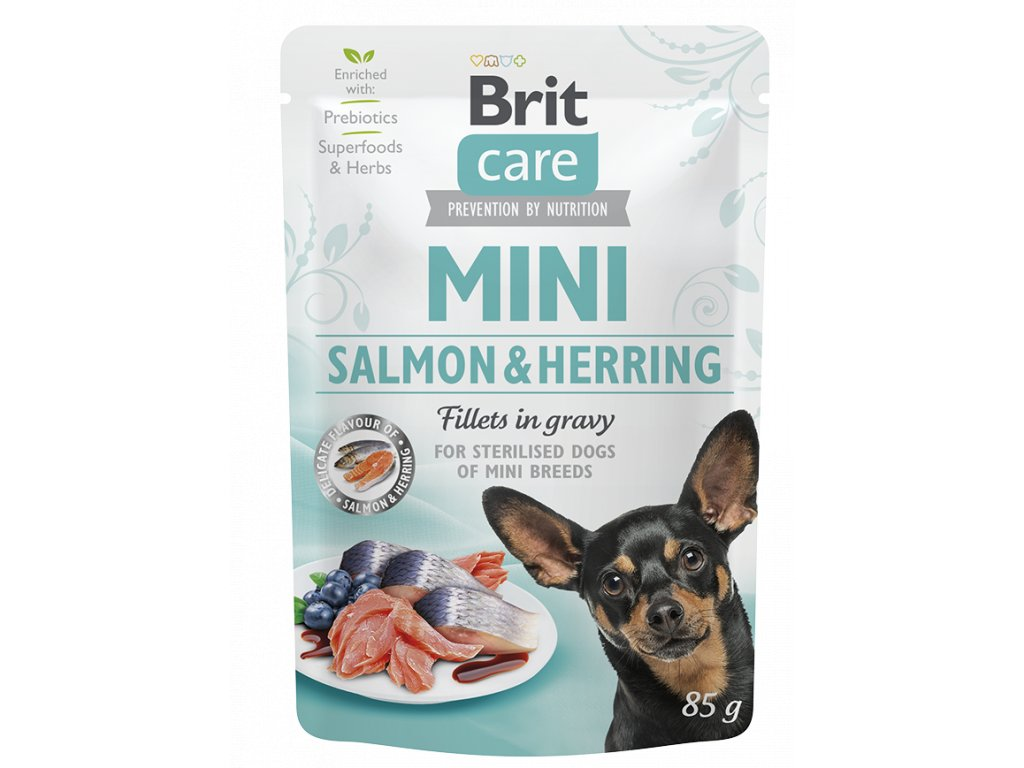 Brit Care Mini Salmon & Herring sterilised fillets in gravy 85 g