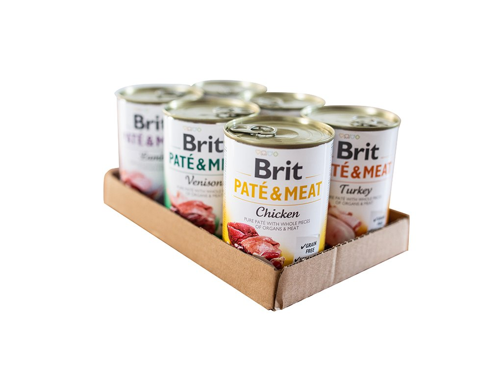 Brit Paté & Meat MIX PACK 6x400 g