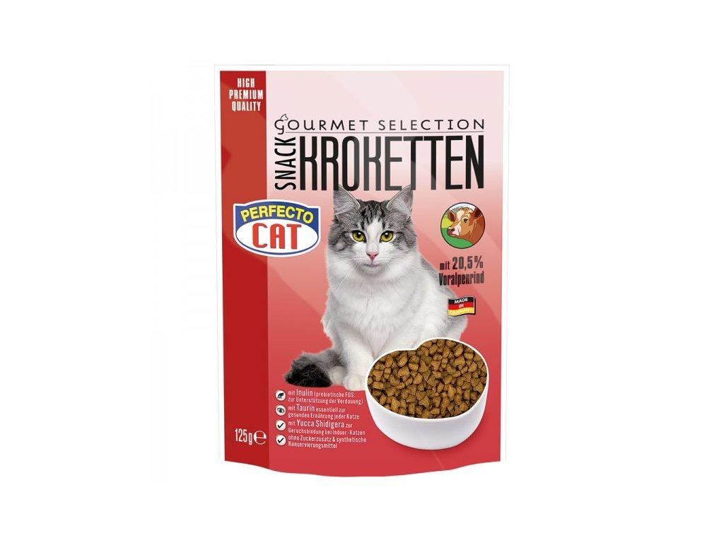 Perfecto Cat Kroketten snack 20,5% s Alpským hovězím 125 g