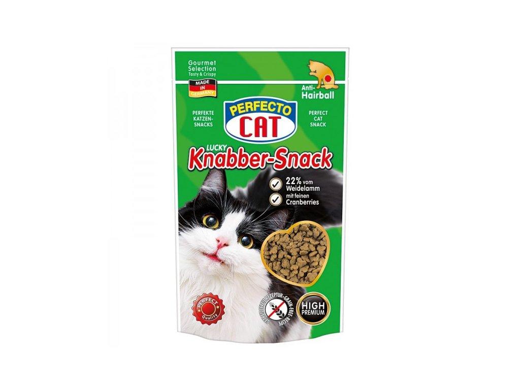 Perfecto Cat Lucky Knabber-Snack s jehněčím a brusinkami 50 g
