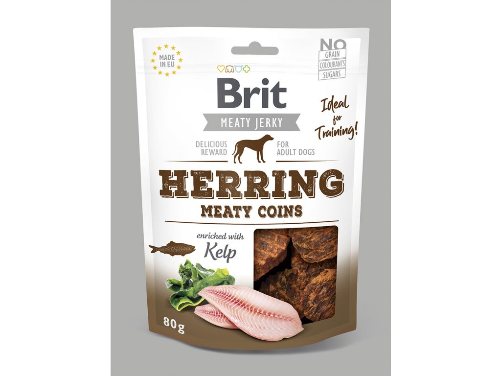 Brit Jerky Herring Meaty Coins 80 g