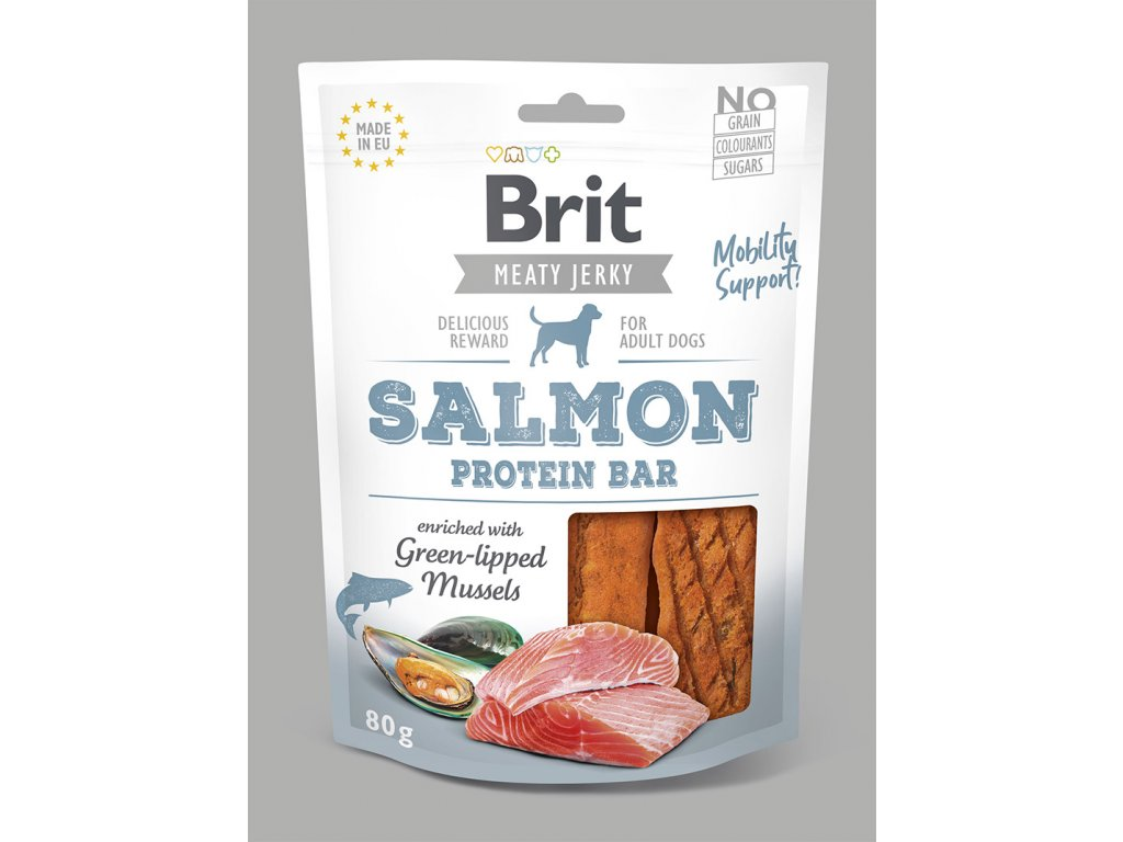 Brit Jerky Salmon Protein Bar