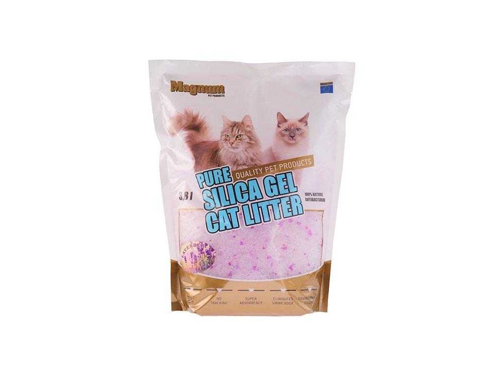 Magnum Silica gel cat litter Levander 3,8l