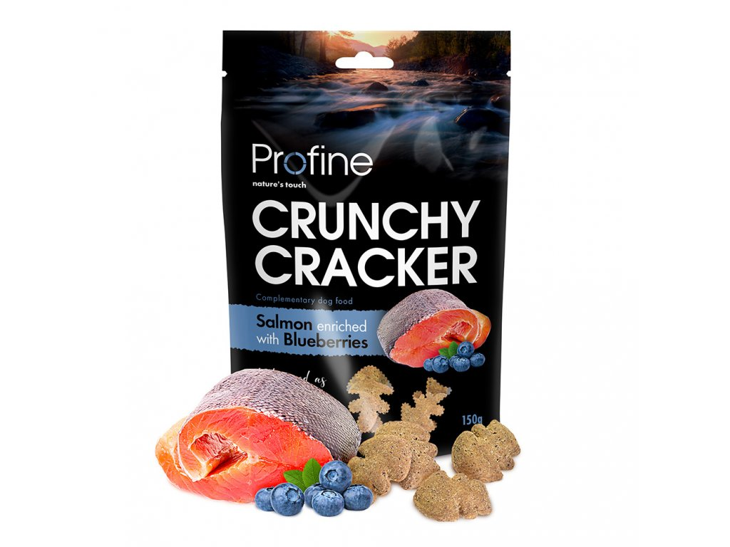 Profine Dog Crunchy Cracker Salmon enriched with Blueberries