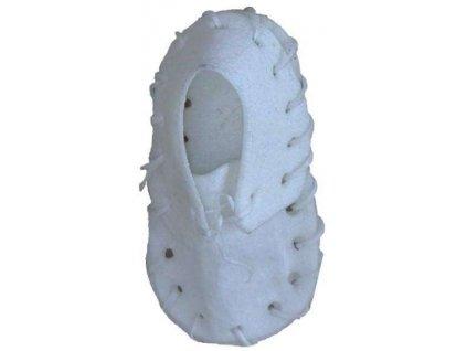Bota buvolí bílá kůže 7,5 cm 25 ks