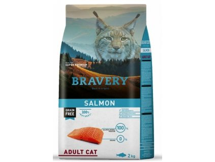 5706 bravery cat adult grain free salmon 2kg