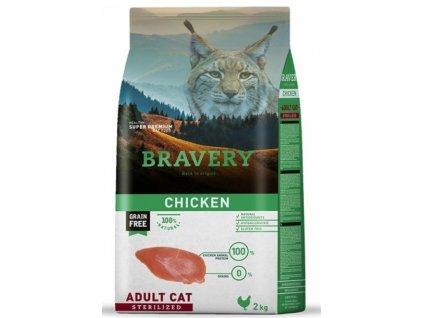 Bravery Cat Sterilized Grain Free Chicken 2 kg