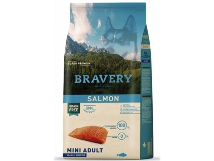 BRAVERY dog ADULT MINI Grain Free salmon 7 kg